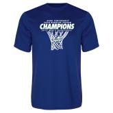 Syntrel Performance Royal Tee-Regular Season Champions 2017 Mens Basketball Net Design