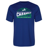 Syntrel Performance Royal Tee-Regular Season Champions 2017 Mens Basketball Half Ball Design