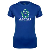 Ladies Syntrel Performance Royal Tee-Soccer Ball Design