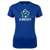 Ladies Syntrel Performance Royal Tee-Soccer Ball Design