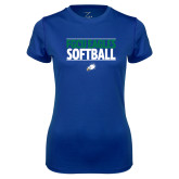 Ladies Syntrel Performance Royal Tee-Softball Stacked