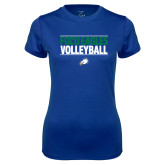 Ladies Syntrel Performance Royal Tee-Volleyball Stacked