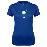 Ladies Syntrel Performance Royal Tee-Golf Flag and Ball