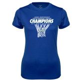 Ladies Syntrel Performance Royal Tee-Regular Season Champions 2017 Mens Basketball Net Design