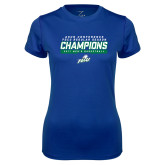 Ladies Syntrel Performance Royal Tee-Regular Season Champions 2017 Mens Basketball Bar Design