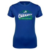 Ladies Syntrel Performance Royal Tee-Regular Season Champions 2017 Mens Basketball Half Ball Design