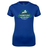 Ladies Syntrel Performance Royal Tee-Asun Conference 2017 Womens Basketball Champions