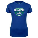 Ladies Syntrel Performance Royal Tee-ASUN Champions 2017 Mens Basketball
