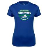 Ladies Syntrel Performance Royal Tee-ASUN Champions 2017 Mens Basketball