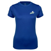 Ladies Syntrel Performance Royal Tee-Primary Athletic Mark
