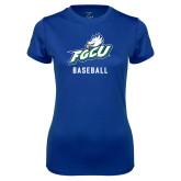 Ladies Syntrel Performance Royal Tee-Baseball