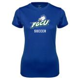 Ladies Syntrel Performance Royal Tee-Soccer