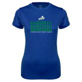 Ladies Syntrel Performance Royal Tee-Basketball Triple Stacked