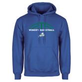 Royal Fleece Hoodie-Basketball Half Ball