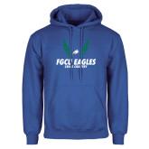 Royal Fleece Hoodie-Cross Country Wings