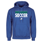 Royal Fleece Hoodie-Stacked Soccer