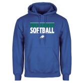Royal Fleece Hoodie-Softball Stacked