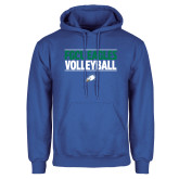 Royal Fleece Hoodie-Volleyball Stacked