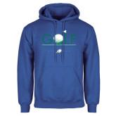 Royal Fleece Hoodie-Golf Flag and Ball