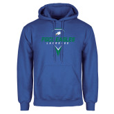 Royal Fleece Hoodie-Lacrosse Abstract Stick