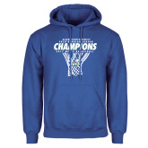 Royal Fleece Hoodie-Regular Season Champions 2017 Mens Basketball Net Design