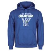 Royal Fleece Hoodie-Regular Season Champions 2017 Mens Basketball Net Design