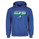 Royal Fleece Hoodie-Regular Season Champions 2017 Mens Basketball Bar Design