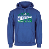 Royal Fleece Hoodie-Regular Season Champions 2017 Mens Basketball Half Ball Design