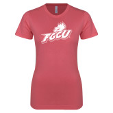 Next Level Ladies SoftStyle Junior Fitted Pink Tee-Primary Athletic Mark