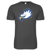 Next Level SoftStyle Charcoal T Shirt-Eagle Head