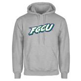 Grey Fleece Hoodie-FGCU