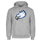 Grey Fleece Hoodie-Eagle Head