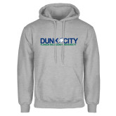 Grey Fleece Hoodie-Dunk City Official Logo
