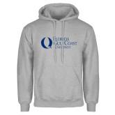 Grey Fleece Hoodie-University Mark Flat
