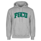 Grey Fleece Hoodie-Arched FGCU
