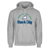 Grey Fleece Hoodie-Dunk City Script