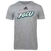 Adidas Sport Grey Logo T Shirt-FGCU