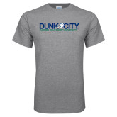 Grey T Shirt-Dunk City Official Logo