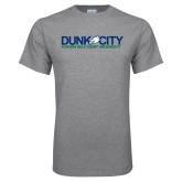 Grey T Shirt-Dunk City Official Logo