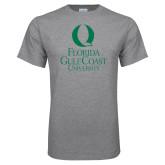 Grey T Shirt-University Mark Stacked