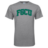 Grey T Shirt-Arched FGCU