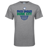 Grey T Shirt-Dunk City Stacked w/ Net