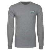 Grey Long Sleeve T Shirt-FGCU