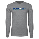 Grey Long Sleeve T Shirt-Dunk City Official Logo