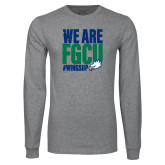 Grey Long Sleeve T Shirt-We Are FGCU