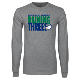 Grey Long Sleeve T Shirt-Raining Threes