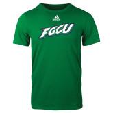 Adidas Kelly Green Logo T Shirt-FGCU