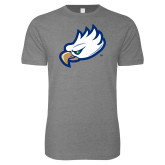 Next Level SoftStyle Heather Grey T Shirt-Eagle Head