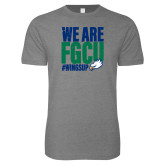 Next Level SoftStyle Heather Grey T Shirt-We Are FGCU