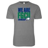Next Level SoftStyle Heather Grey T Shirt-We Are FGCU